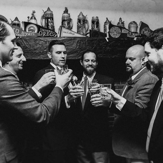 """Never delay kissing a pretty girl or opening a bottle of whiskey."" - Ernest Hemingway     #royaannmillerphotography #weddingphotographer #wedding #destinationweddingphotographer #portrait #blackandwhite #southeast #intimatewedding #groom #dudeclub #gettingready #lookslikefilm #sendit"