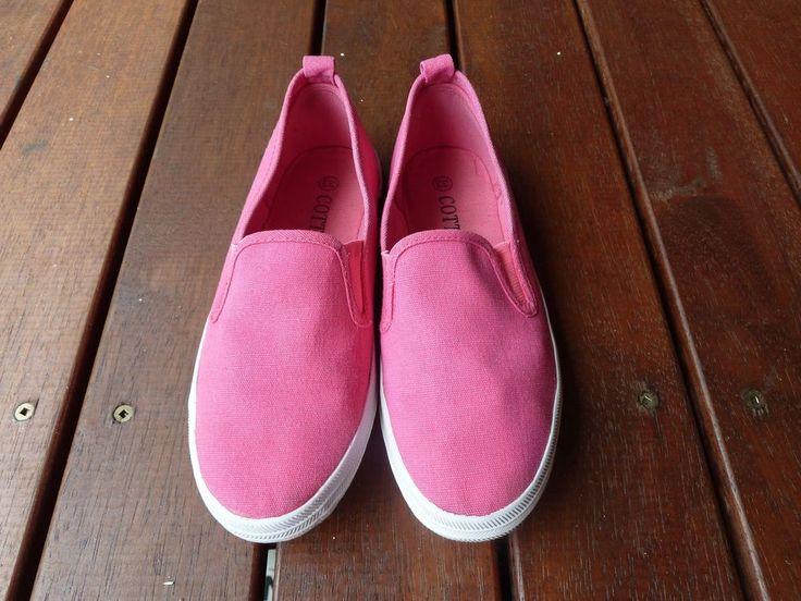 Girls Cottis Hot Pink Cotton Espadrille Shoes, Size 33