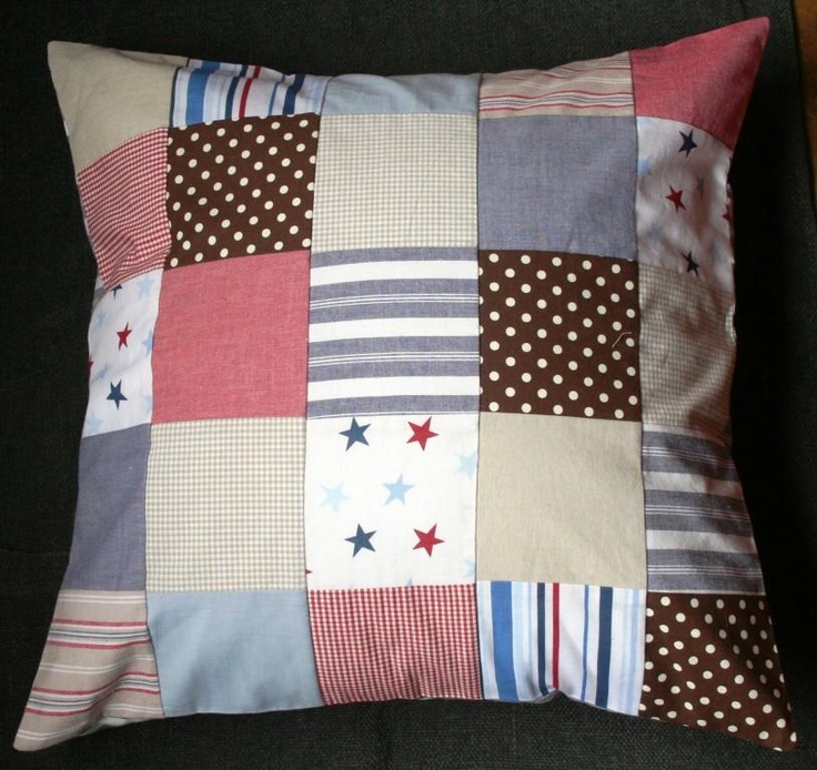 Patchwork Scatter Cushion - made by Tula-tu Baby Linen