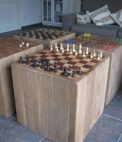 dambord en schaakbord meubel