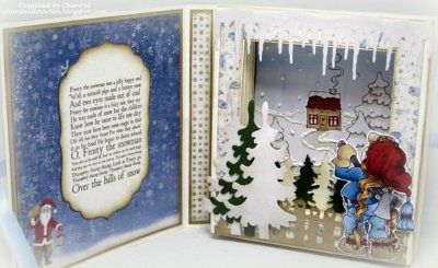 Cards made by Chantal: Let it snow book card - December challenge Duymelot