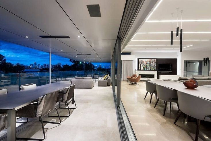 LED Ceiling Lights - Luxurious Detached House in Australia