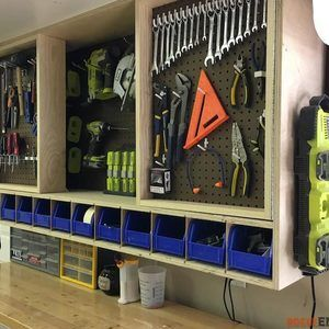 Check out this project on RYOBI Nation - Tool storage is a necessity in any shop. While storage is great, accessible storage is even better. That's why I designed this tool storage cabinet. I used pegboard to display the tools and allow for great accessibility. With doors, not only do you more than double your hanging space but you do so with a small footprint.  Photos of the build can be seen below but if you intent to take on this project I recommend you download the printable PDF to have…