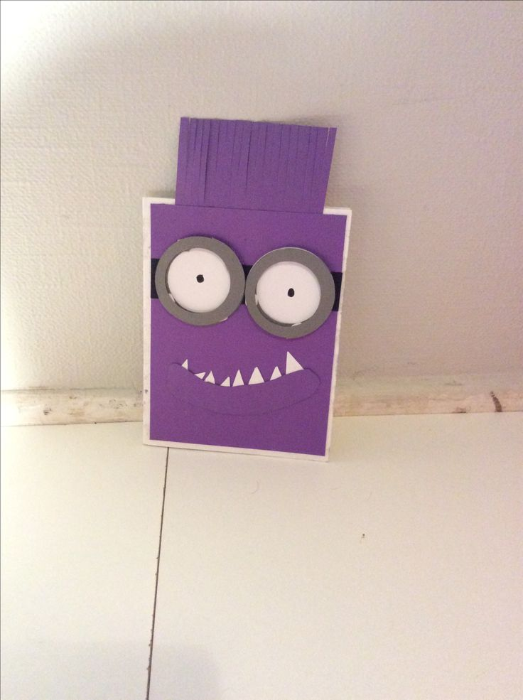 This is a purple minion from despicable me 2.