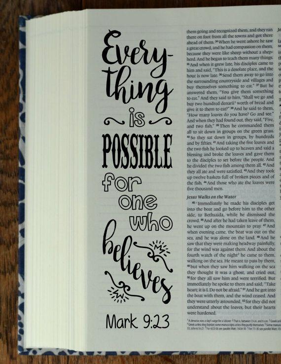 MARK - 4 Bijbel journaling afdrukbare sjablonen, geïllustreerd christelijk geloof bladwijzers, zwart-witprinter bijbel vers gebed dagboek stickers door BibleVerseColoring