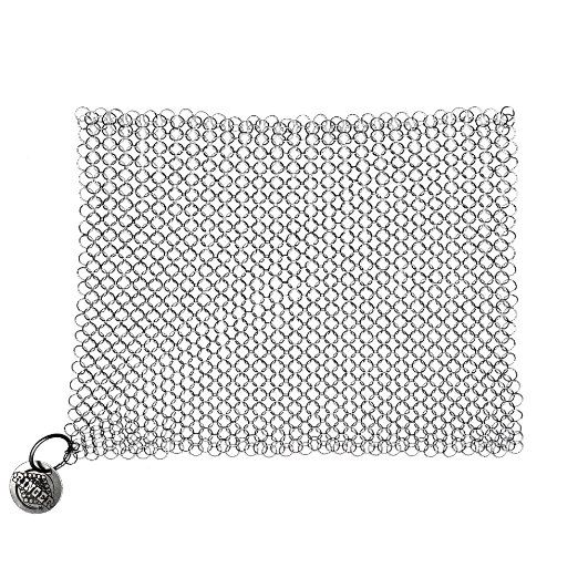 $20 Amazon.com: The Ringer Cast Iron Cleaner XL 8x6 Inch Stainless Steel Chainmail: Cast Iron Griddle: Kitchen & Dining
