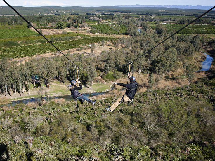 Africa's longest double zip line at Adrenalin Addo #addo #travel #southafrica #adventure