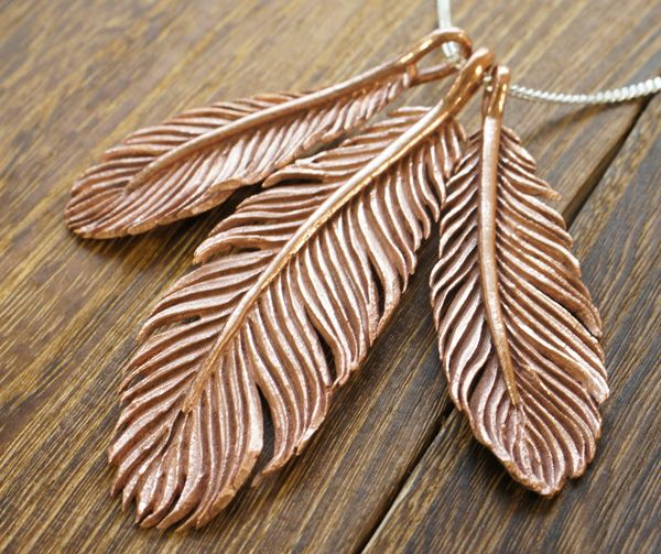 Free Tutorial - Art Clay Copper Feather Pendants