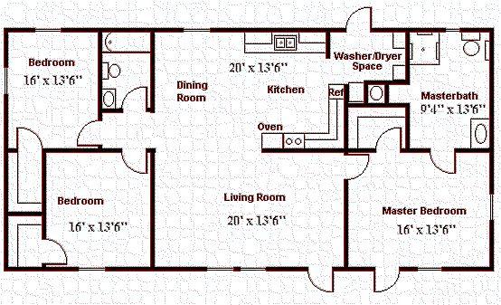 8 best handicap floor plans images on pinterest floor for Small handicap house plans