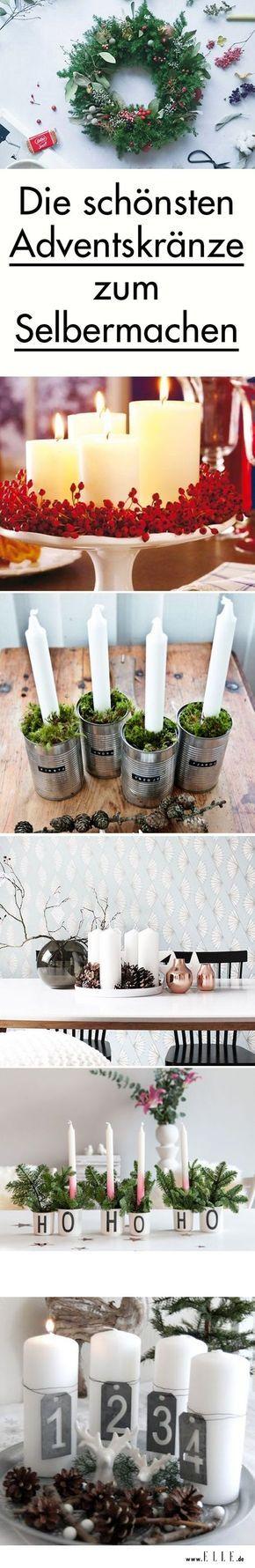 Ihr habt genug von langweiligen Adventskränzen aus dem Blumenladen und wollt lieber einen ganz nach eurem Geschmack? Wir haben die schönsten DIY-Ideen von Pinterest für euch gesammelt!