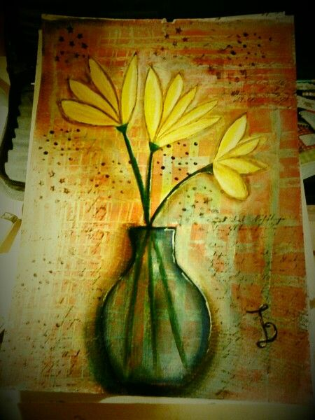 I love all the kind of flowers....mixed media project