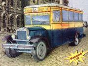 ZiS-8 Bus Free Vehicle Paper Model Download
