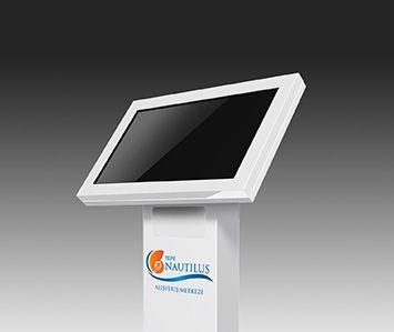 Tepe Nautilus alışveriş merkezinde ziyaretçilerin bilgilendirilmesi ve video yayınlanması için kullanılan dokunmatik bilgi ve reklam panosu çözümü Kiosk İnnova tarafından sağlanıyor.