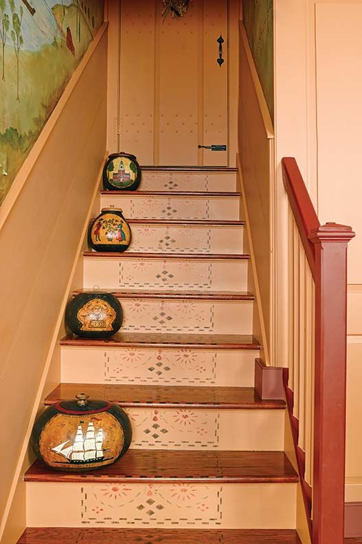 The Balustrade Design Was Drawn From An Early New England Architecture Book