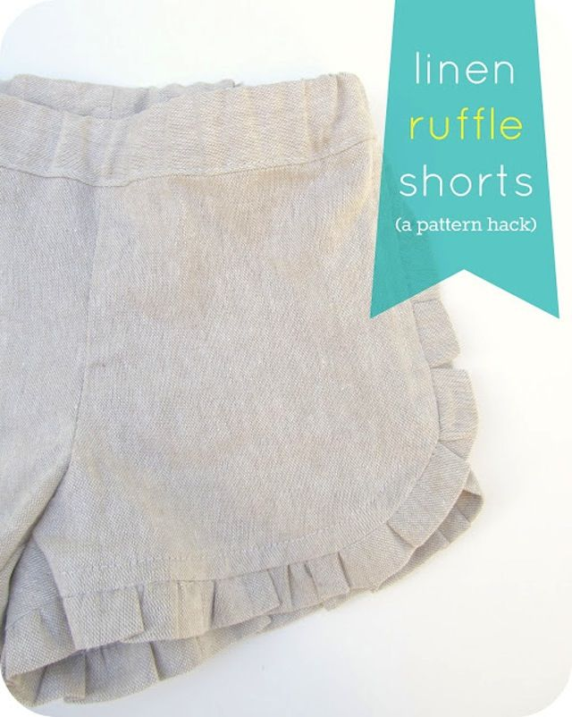 How to Turn Any Shorts Pattern into Ruffle Shorts. These look like the cute Gymboree shorts from the new spring line!