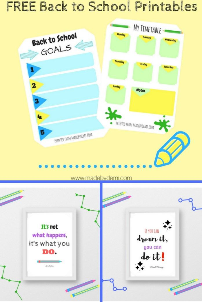 FREE Back To School Printables Bundle | made by demi