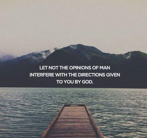 God, not man.