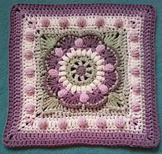 Vintage Sea Flower Mandala Square ~ free pattern ᛡ