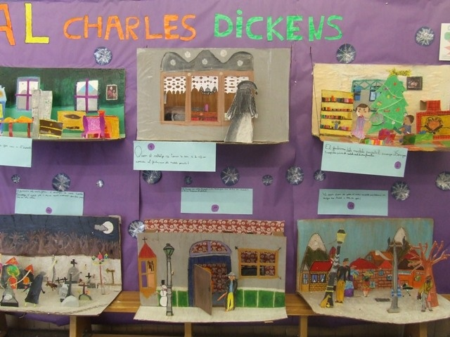 Charles Dickens Dioramas- something like these would be a great addition to our Oliver Twist audio study...