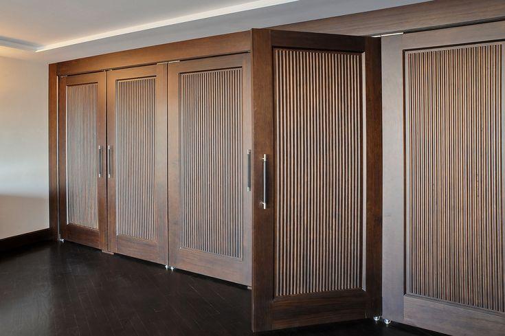 Custom Wood Interior Doors | Custom Interior Solid Wood Double Doors, Custom Ridges, Transitional Style DBI-580 DD - Glenview Haus - Custom Doors, Wine Cellars and Cabinets in Chicago
