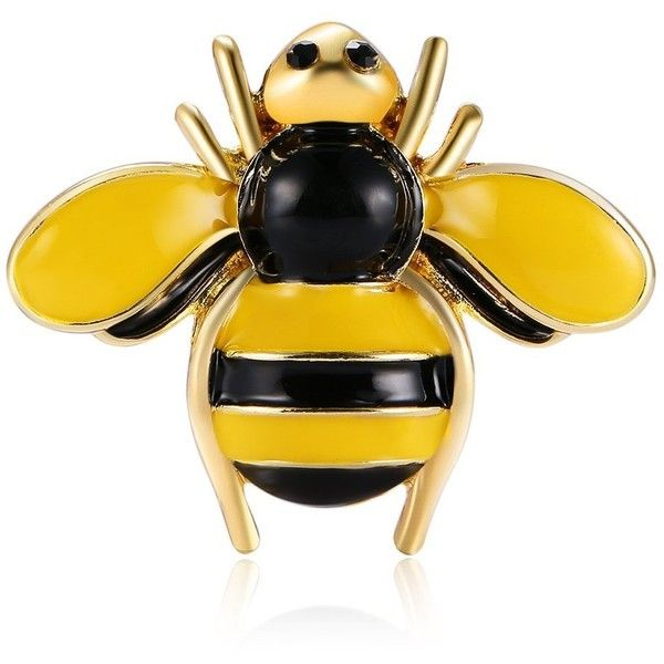 Amazon.com: CHUANGYUN Bees Collar Pin Flying Industrious Bee Animals... ($8.66) ❤ liked on Polyvore featuring jewelry, brooches, bumble bee jewelry, animal brooch, honey bee jewelry, gold bee brooch and honey bee brooch