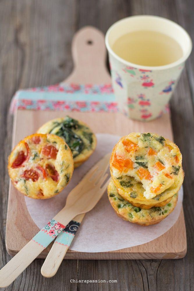 Frittatine al forno con verdure | Chiarapassion