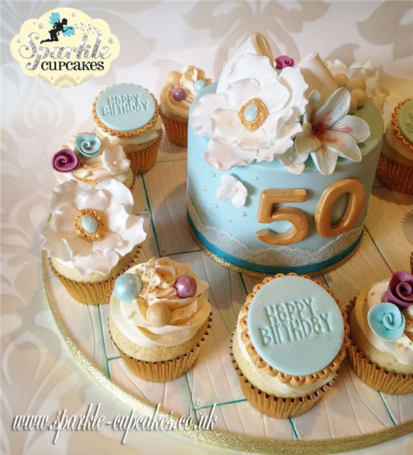 Cupcake Decorating Ideas For 50th Birthday : 25+ Best Ideas about 50th Birthday Cupcakes on Pinterest ...