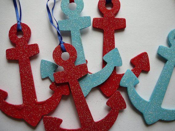 Amazing Glittery Nautical Christmas Decorations.