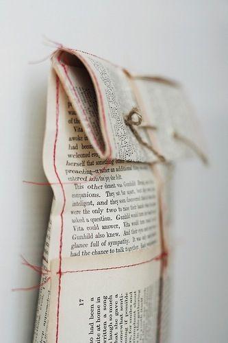 newspaper gift wrap