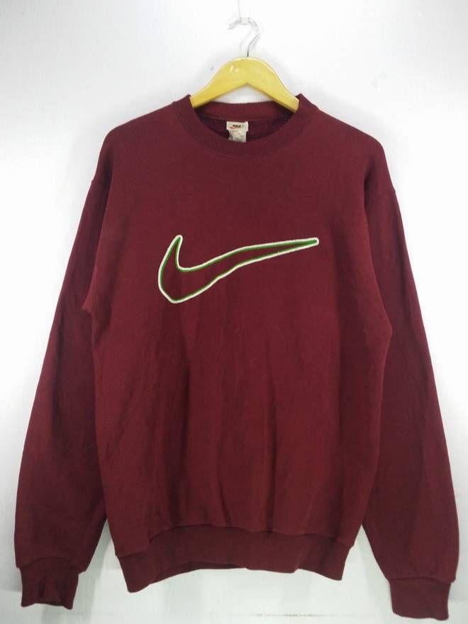 18db11023b215 Nike Vintage Nike Big Swoosh Embroidery Sweatshirt Jumper Pullover ...