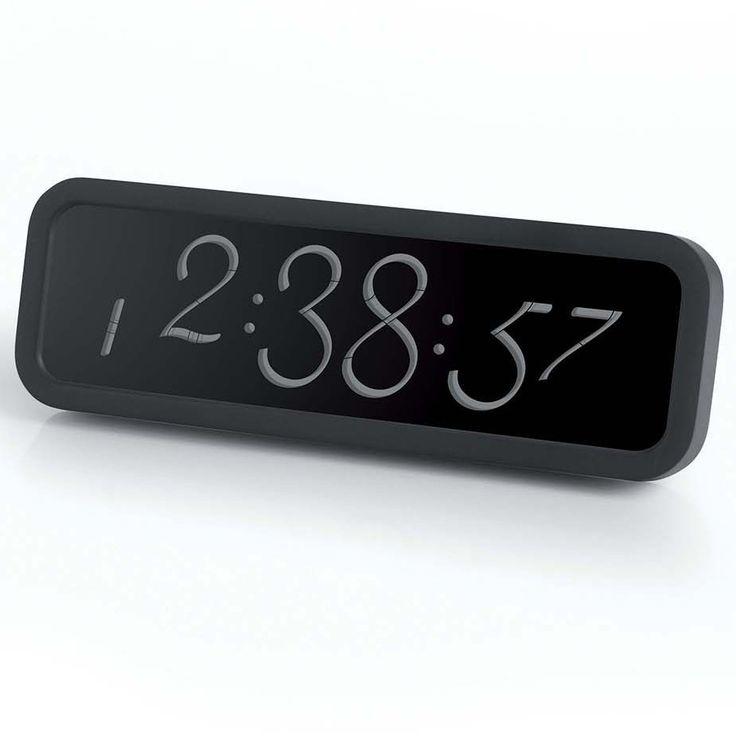 Reloj Despertador Lexon Script Negro http://www.tutunca.es/reloj-despertador-lexon-script-negro