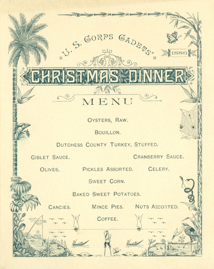 48 best christmas menus images on pinterest christmas menus restaurant and 1950s - Christmas menu pinterest ...