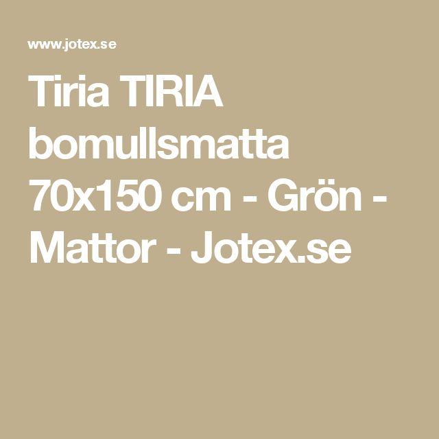 Tiria TIRIA bomullsmatta 70x150 cm - Grön - Mattor - Jotex.se
