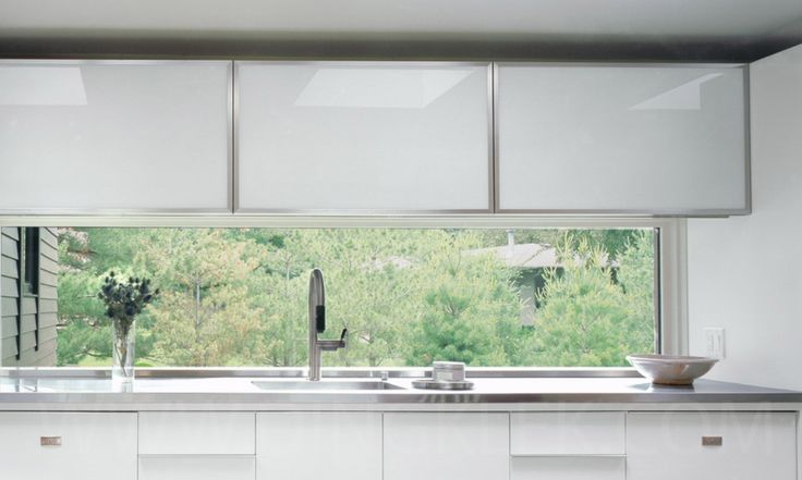 This window to kitchen room divider with a space that small and simple to look at from the outside
