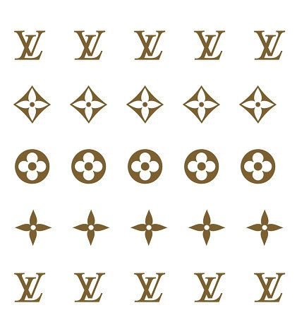 Louis Vuitton LV Nail Decals Classic Monogram by JackiesNailCandy