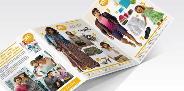 The designs we produce for each La Redoute campaign are driven by seasonal trends and by the bi-annual updates to the main catalogue.   Colour palettes, photography and tone of voice are consistent with both the main catalogue and website, with all designs retaining a clean and contemporary feel, including all season sales material.