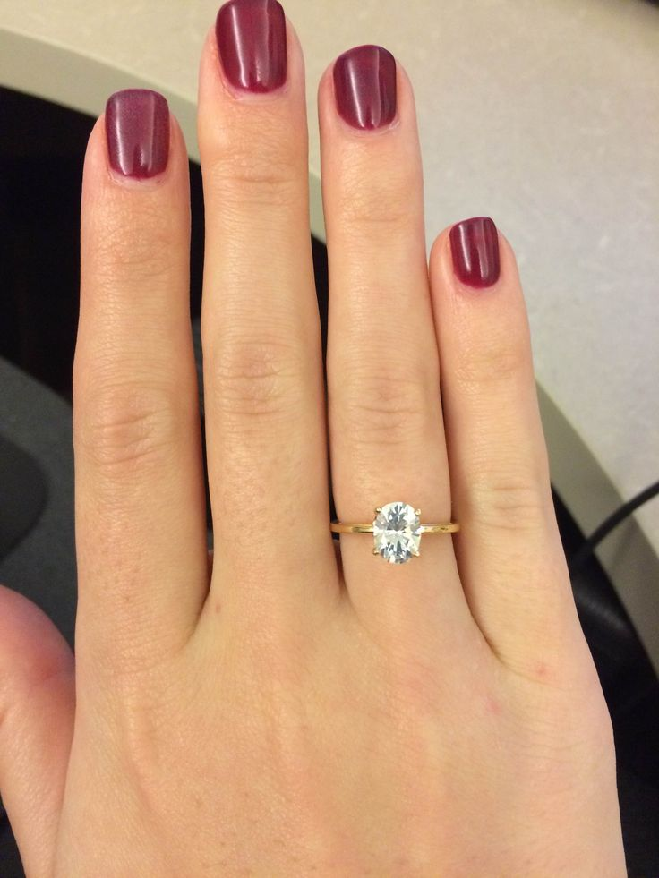One Carat Oval Diamond Ring Ring Engagement Rings