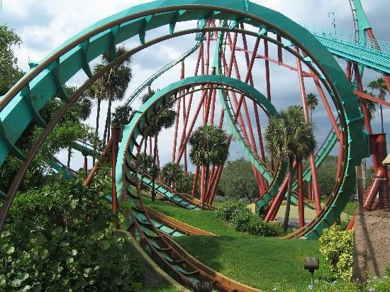 One Of Many Roller Coasters At Bush Gardens