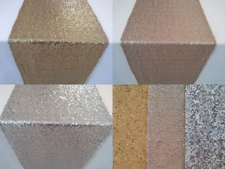 Gold Silver Or Champagne Sequin Wedding Table Runners
