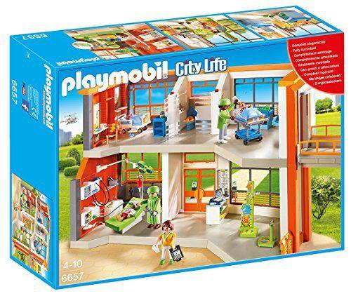 Playmobil – 6657 – Hopital pédiatrique aménagé: Playmobil – 6657 – Hopital pédiatrique aménagé – Hôpital pédiatrique avec cinq personnages,…
