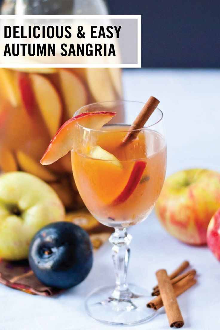Who doesn't love a cozy yet refreshing cocktail during a chilly fall night?! This recipe for a Delicious and Easy Autumn Sangria features white wine, apple cider, club soda, bourbon, apples, pears, and plum—aka all your favorite fall flavors in one simple drink.