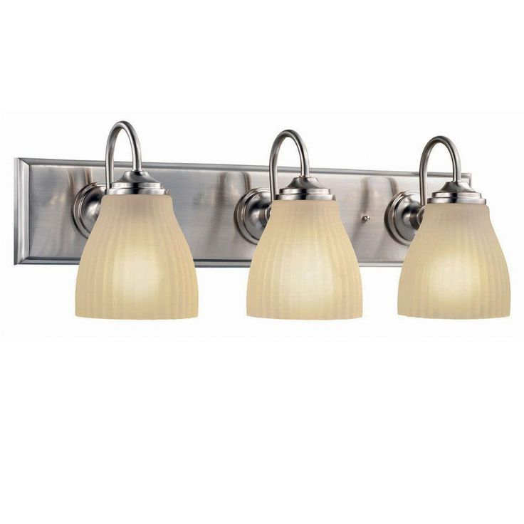 Hampton bay 3 light brushed nickel vanity light