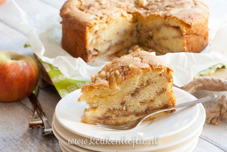 Hollandse appelcake met walnoten (en zonnebloemolie ipv boter) - Keuken♥Liefde