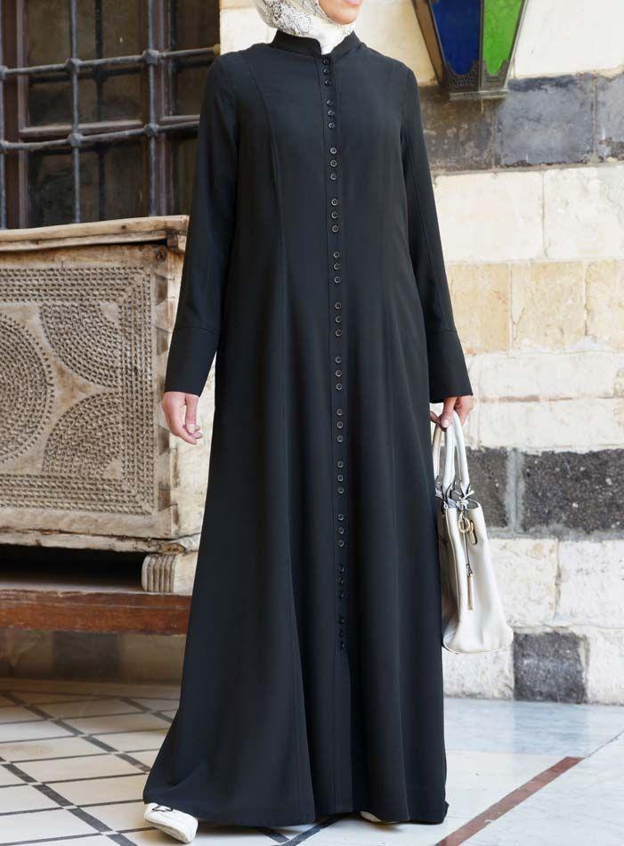 Hijab Fashion 2016/2017: SHUKR USA | Button Clusters Shirtdress
