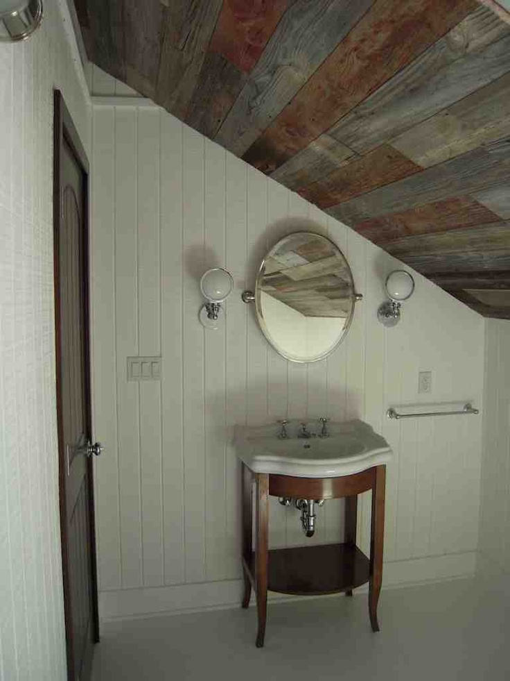 17 best images about reclaimed wood ceilings on pinterest for Bathroom wood ceiling ideas