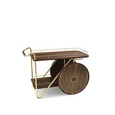 Durell Bar Cart | Essential Home | Mid Century Furniture