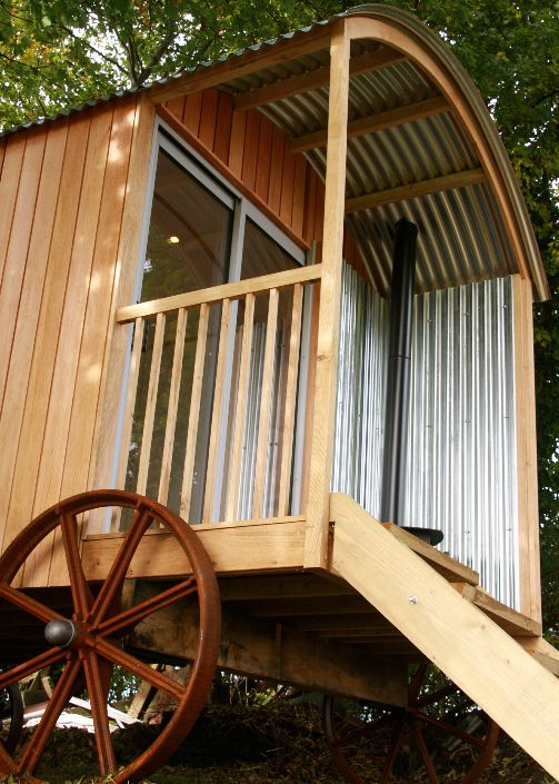 The veranda is a lovely addition if you envisage using your hut for socialising. With the doors open and the extra wide steps six people can easily gather around the fire and chew the fat.