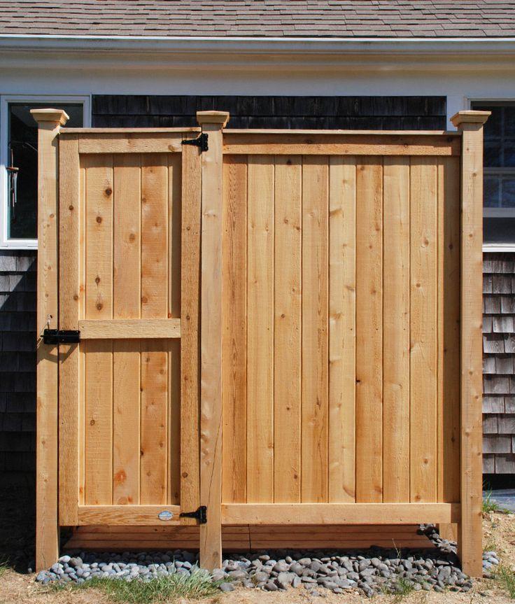 Outdoor Showers | Enclosures Cedar PVC | Cape Cod Shower Kits Co