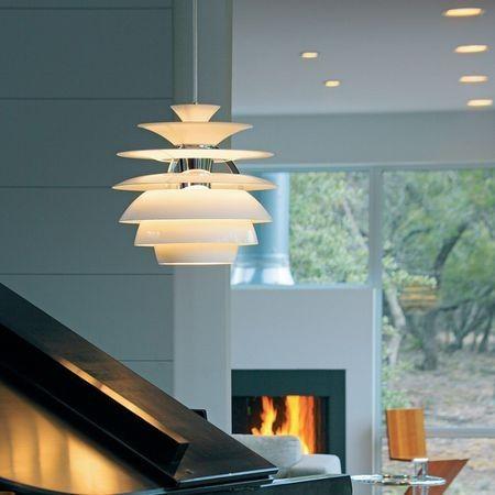 Poul Henningsen hanglamp. Snowball wit. Design Verlichting.