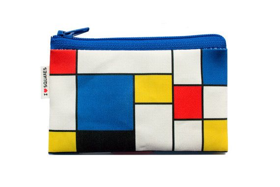 RED BLUE YELLOW squares printed Wallet by efratul on Etsy, $9.00